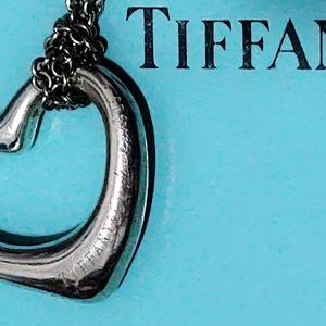 Tiffany & Co. Jewelry - Tiffany & Co. Sterling Silver Open Heart Necklace